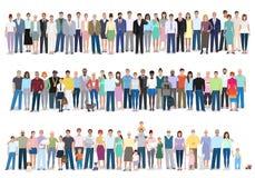 Grupp av olikt folk, vektorillustration vektor illustrationer