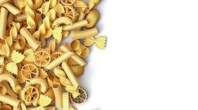 Grupp av pasta Royaltyfri Illustrationer