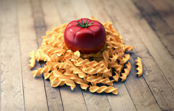 Grupp av pasta med tomaten Stock Illustrationer