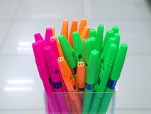 Grupp av pennor Arkivbild