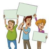 Grupp av personer som protesterar Arkivfoto