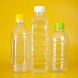 Grupp av plastic flaskor Royaltyfria Bilder