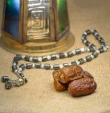 Grupp av Ramadan Islamic Tradirion Icons Royaltyfria Foton