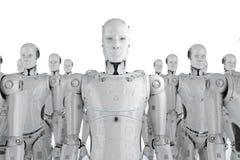 Grupp av robotar vektor illustrationer