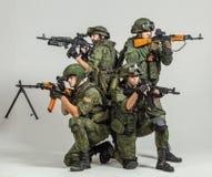 Grupp av rysssoldater Arkivfoton