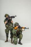 Grupp av rysssoldater Arkivbild