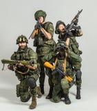 Grupp av rysssoldater Royaltyfri Foto