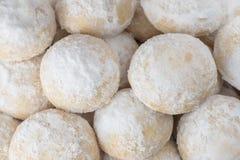 Grupp av söta Eid Cookies med socker Royaltyfria Foton