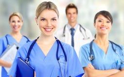 Grupp av sjukhusdoktorer arkivbild