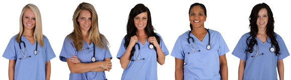 Grupp av sjuksköterskor Royaltyfri Bild