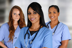 Grupp av sjuksköterskor Royaltyfri Foto