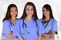 Grupp av sjuksköterskor Fotografering för Bildbyråer