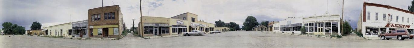 Grupp av skyltfönster i New Mexico arkivfoto