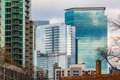 Grupp av skyskrapor i Midtown, Atlanta, USA Royaltyfri Fotografi