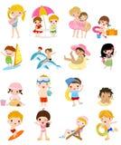 Grupp av sommarbarn Fotografering för Bildbyråer