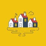 Grupp av sommarhus, fastighet vektor illustrationer