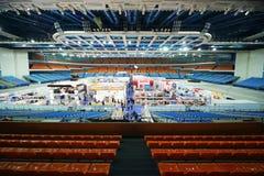 Grupp av ställningar på den 14th internationella utställningen av renhet ExpoClean 2012 Royaltyfri Fotografi