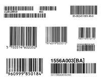 Grupp av stångkoder Arkivbild