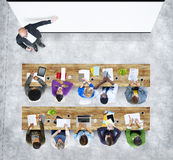 Grupp av studenten Studying Photo Illustration Arkivbild