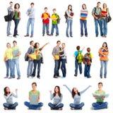 Grupp av studenter. royaltyfri fotografi