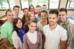 Grupp av studenter royaltyfri fotografi