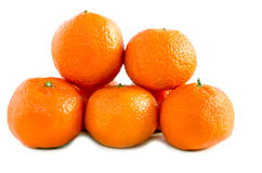 Grupp av tangerin- eller mandarinfrukt Arkivfoto