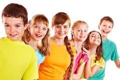 Grupp av teen folk. Fotografering för Bildbyråer