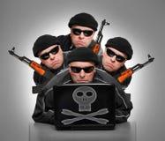 Grupp av terrorister Arkivbild