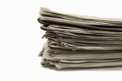 Grupp av tidningar Arkivbilder