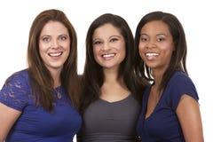 Grupp av tillfälliga kvinnor arkivfoton