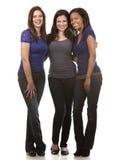 Grupp av tillfälliga kvinnor arkivfoto