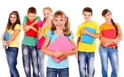 Grupp av tonårigt folk. Royaltyfri Foto