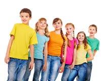 Grupp av tonårigt folk. Fotografering för Bildbyråer