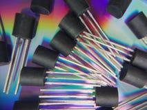 Grupp av transistorer royaltyfria foton