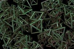 Grupp av triangeln eller fyrkanten, flyg som inter--l?sas, f?r designtextur & bakgrund framf?rande 3d stock illustrationer