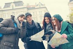 Grupp av turistsightstaden Arkivbild