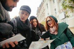 Grupp av turistsightstaden Arkivbilder
