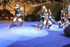 Grupp av unga dansare Royaltyfria Foton