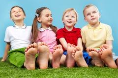 Grupp av ungar Arkivbild
