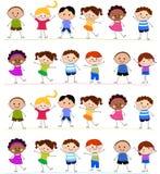 Grupp av ungar som har gyckel Royaltyfri Fotografi