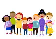 Grupp av ungar som har gyckel vektor illustrationer