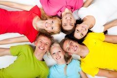 Grupp av ungdomar Arkivbilder