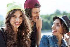 Grupp av ungdomar Arkivfoton