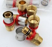 Grupp av värme för ventilvattensystem Royaltyfria Foton