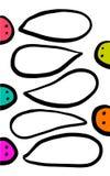 Grupp av varelser som talar för anförandebubblor för hand den utdragna illustrationen vektor illustrationer