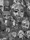 Grupp av venetian karnevalmaskeringar Royaltyfria Foton