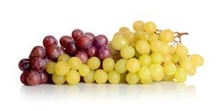 Grupp av vita och röda druvor royaltyfri fotografi