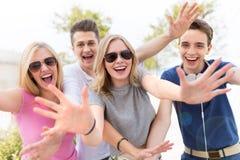 Grupp av vänner Royaltyfria Foton