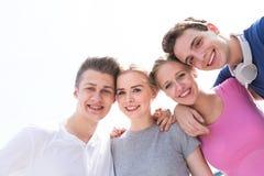 Grupp av vänner Royaltyfri Fotografi