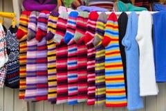 Grupp av woolen sockor Royaltyfria Bilder